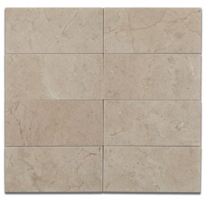 Spanish Crema Marfil 3 in. x 6 in. Honed Subway Marble Floor Wall Tile