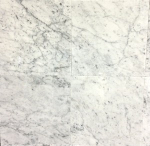 Bianco White Carrara Marble Polished 12x12 Floor and Wall Tile