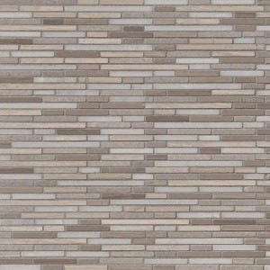 Arctic Storm Bamboo 12x12 Honed Marble Mosaic Floor-Wall Tile