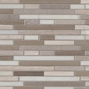Arctic Storm Interlocking Marble Hatch Honed Tile 12x12