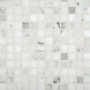 Italian Calacatta Gold 1 in. x 1 in. Polished Marble Mosaic Tile
