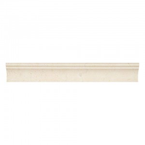 2 in. x 12 in. Crema Marfil Cornice Molding Polished Marble Mosaic Tile