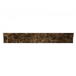 2 in. x 12 in. Emperador Dark Cornice Molding Polished Marble Mosaic Tile