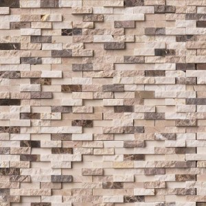 Emperador Blend Split-face Mosaic Tile 12x12  Marble From Spain