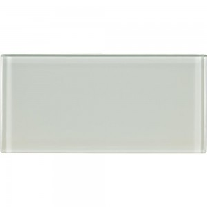 Broadway Arctic Ice 3 in. x 6 in. Glass Mosaic Tile