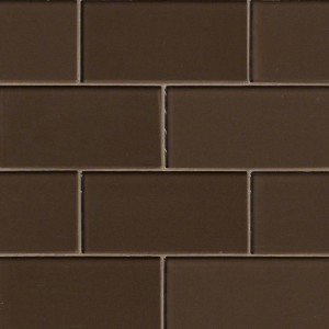 Broadway Cinnamon 3 in. x 6 in. Glass Mosaic Tile