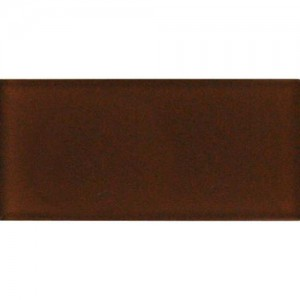 Broadway Cinnamon 6 in. x 12 in. Glass Mosaic Tile