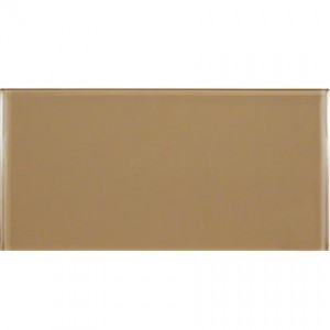 Broadway Caramel 6 in. x 12 in. Glass Mosaic Tiles