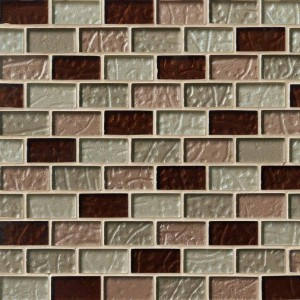 Broadway 1x2 Ayres Blend Glass Mosaic Tile