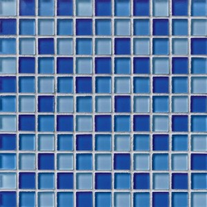 Elixir Blue Blend 1 x 1 Glass Mosaic Tile