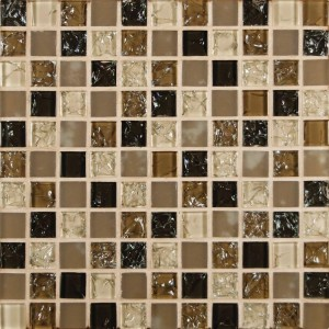 Pacific Dunes Crystallized Glass Blend 1x1 Mosaic Tile