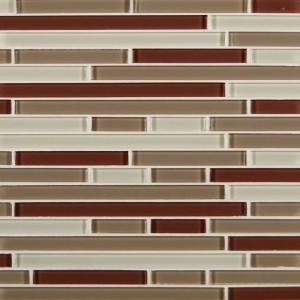 Sedona Blend 1/2 in. x Random Strip Glass Mosaic Tile