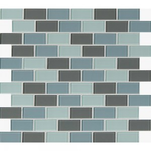 Broadway Majestic Ocean Blend 1x2 Glass Mosaic Tile