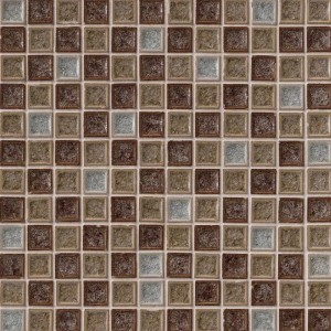 Myrtle Fossil Canyon Blend 1 in. x 1 in. Crackled Glass Tile