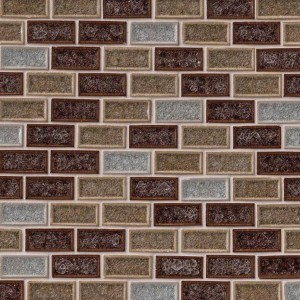 Myrtle 1 x 2 Fossil Canyon Glass Mosaic Tile
