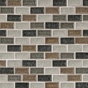 Myrtly 1 x 2 Sandy Beaches Glass Mosaic Tile