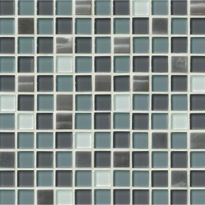 Diamond Cove 1 x 1 Glass Metal Blend Mosaic Tile