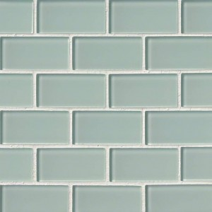 Broadway Arctic Ice Subway 2 x 4 Glass Mosaic Tile