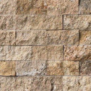 2 in. x 4 in. Scabos Split Face Travertine Mosaic Tile
