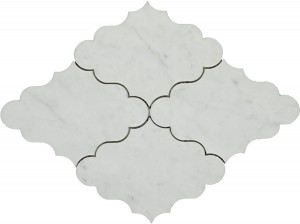 Masterpiece White Carrara Opus Polished Mosaic Tile by Soci