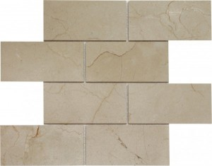 Crema Marfil 3×6 Subway Polished Mosaic Tile by Soci