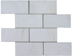 3×6 Dolomite Brick Pattern Polished Mosaic Tile by Soci