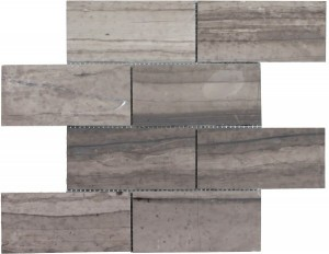 3×6 Athens Gray Brick Pattern Honed Mosaic Tile by Soci