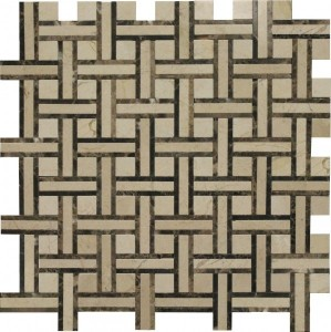 Crema Marfil Victoria Blend Normandy Pattern Polished Mosaic Tile by Soci