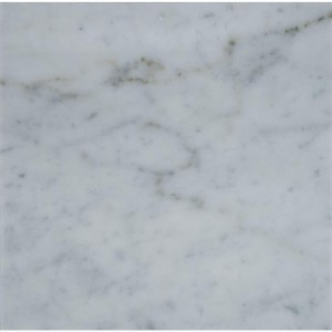 Italian White Carrara Marble Honed 18x18 Floor and Wall Tile