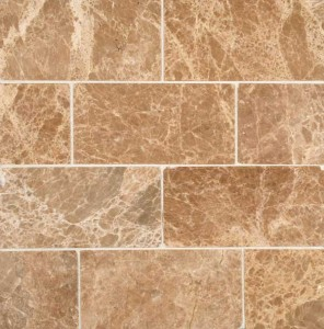 Emperador Light 3x6 Polished Marble Tiles