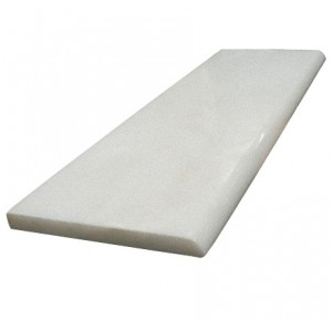 4 in. x 12 in. Greecian White Marble Polished Decorative Baseboard Molding