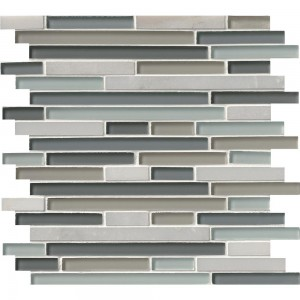 Broadway Keylargo Blend 1/2 in. x Random Strip Glass Mosaic Tile