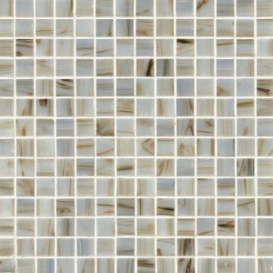 3/4 in. x 3/4 in. Ivory Iridescent Mosaic