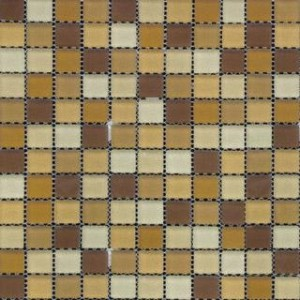 Myrtle 12x12 Cedar Break Froasted Glass Mosaic 1x1 Tile