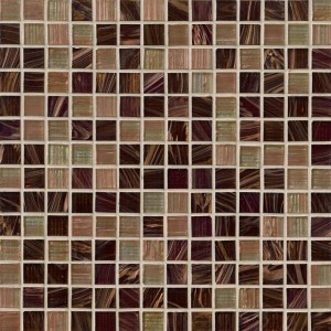 Myrtle Iridescent Treasure Trail 3/4x3/4 Glass Mosaic Tile
