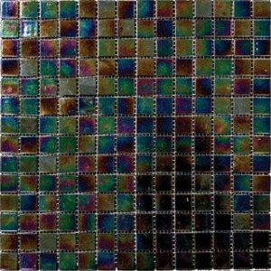 Cabana 3/4 x 3/4 Twilight Opalescence Glass Mosaic Tiles