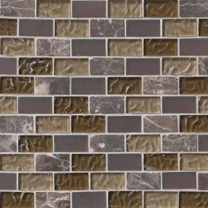 Sonoma Blend 1x2 Glass Mosaic Tile