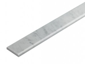 4 in. x 36 in. White Carrara Marble Polished Threshold Liner Trim