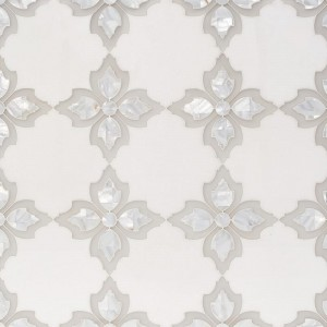 Thassos White with Pura Glass Decorative Marble Mosaic Tile
